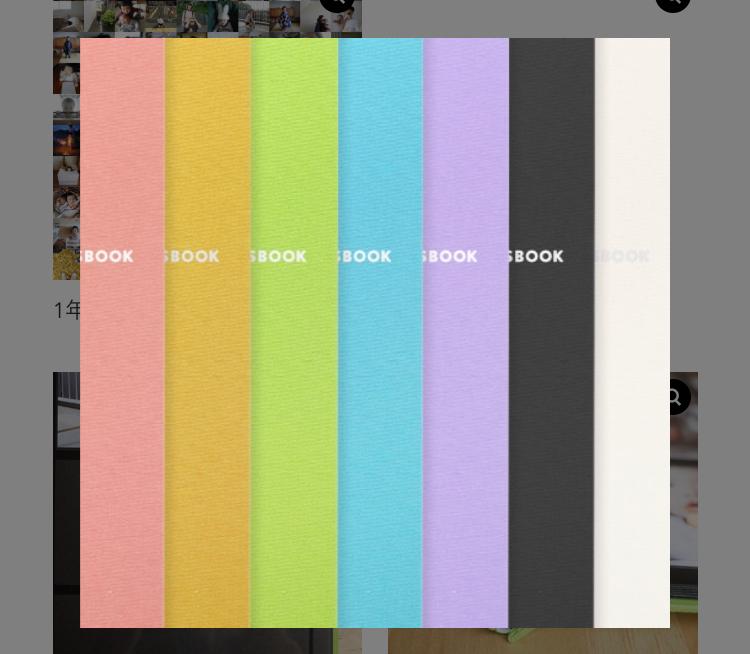 ALBUSのフォトアルバムの色