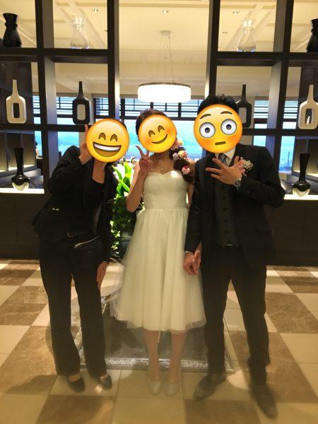 結婚式二次会・ミモレ丈ドレス