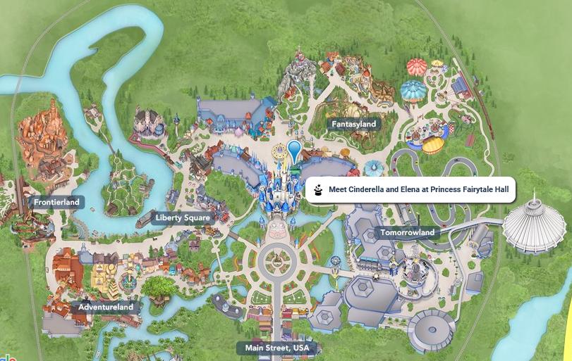 プリンセスフェアリーテールホール地図