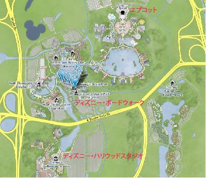 ディズニーボードウォーク・地図