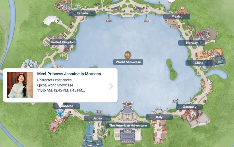 モロッコ館・地図