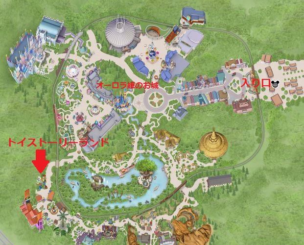 香港ディズニーランド・マップ