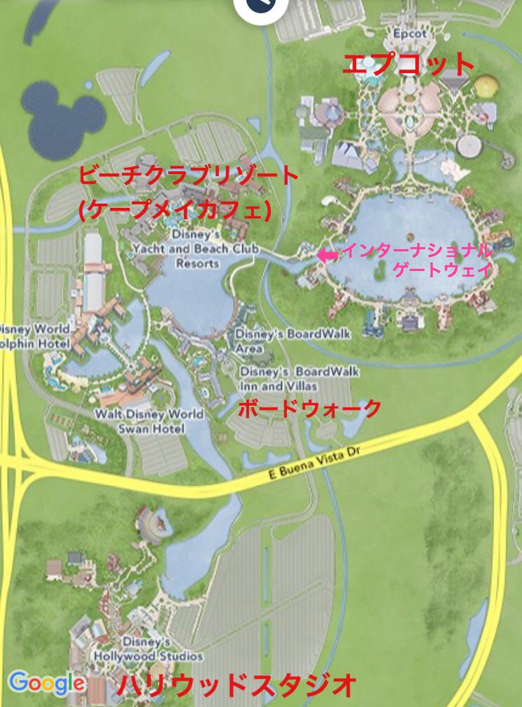 ビーチクラブリゾートの地図