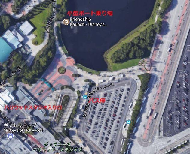 ハリウッドスタジオ・小型ボート乗り場の地図
