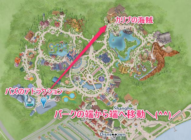 上海ディズニーランド・マップ