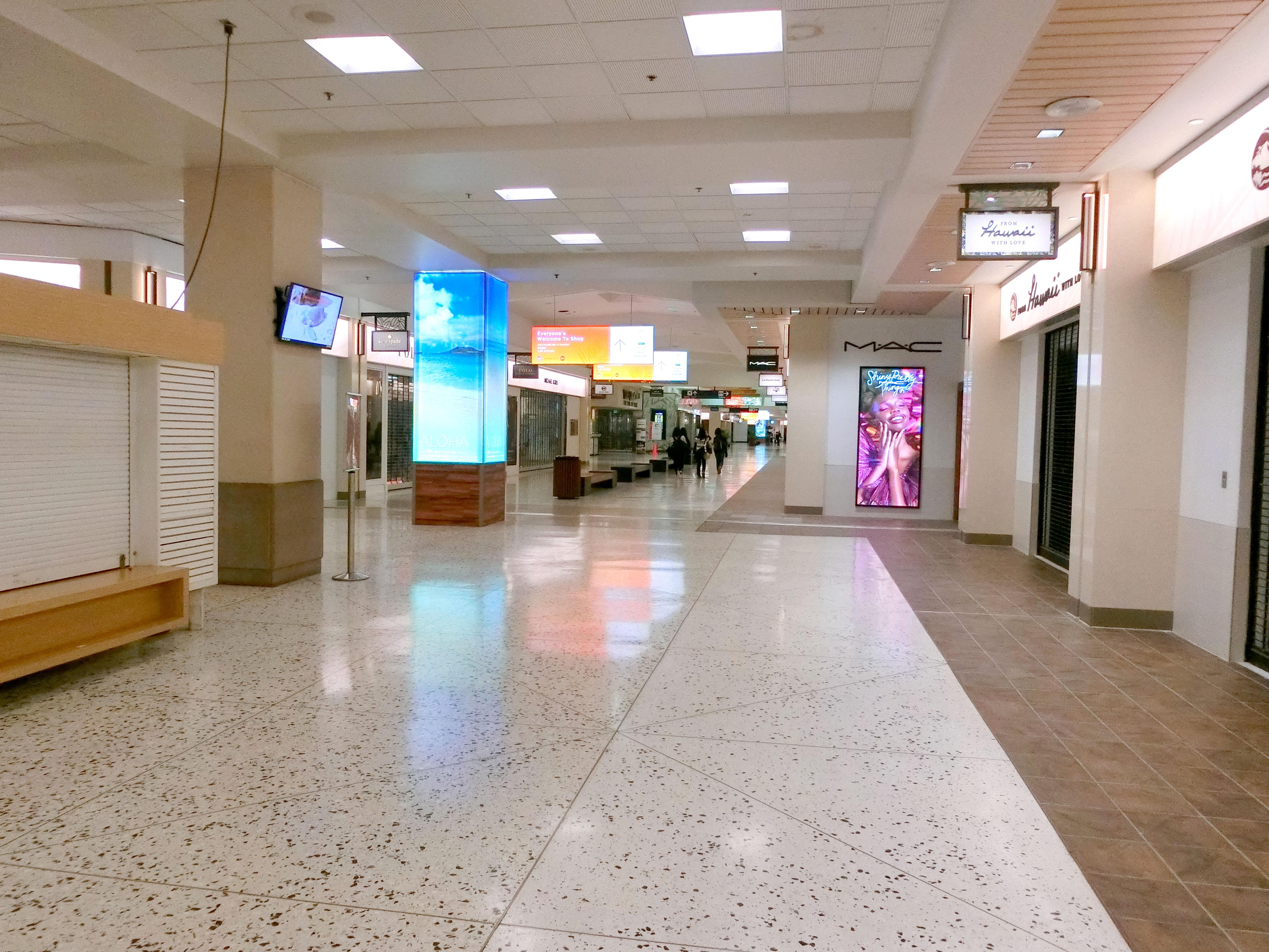 深夜(早朝)のホノルル空港