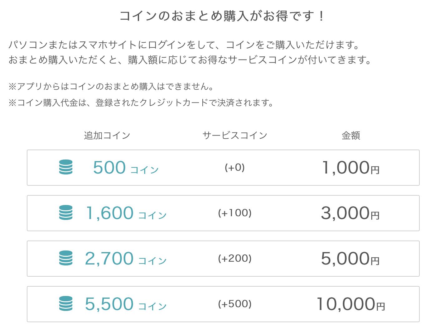 ネイティブキャンプ・コイン購入