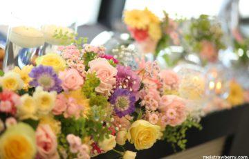 【結婚式レポ】ラプンツェルのテーブル装花&二次会のラプンツェルヘア♪
